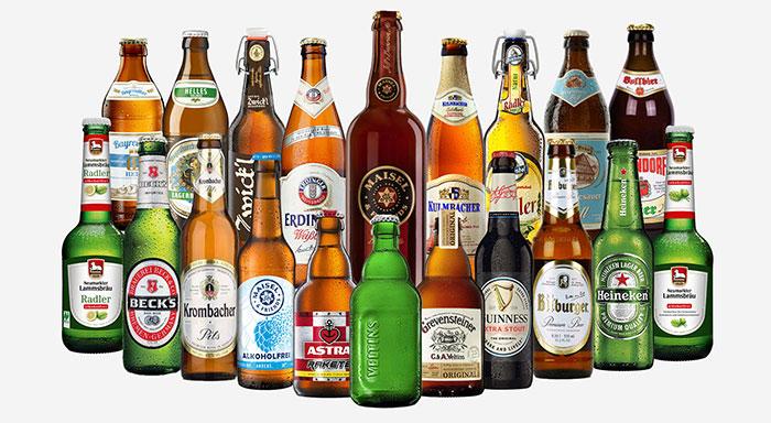 Sortiment Biere